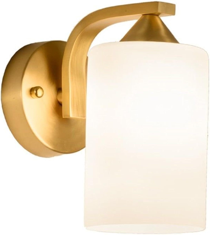 JJZHG Wandleuchte Wandlampe Wasserdicht Wandbeleuchtung Volle Wandlampe Gehweg einzigen Kopf reines Schlafzimmer Nachtwandlampe beinhaltet  Wandlampe,stoere wandlampen,wandlampen Design