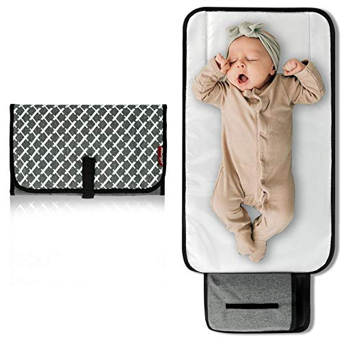 Arrontop Baby Portable Changing Pad, Waterproof Diaper Bag of Baby Foldable Travel Mat Station for Toddlers Infants & Newborns