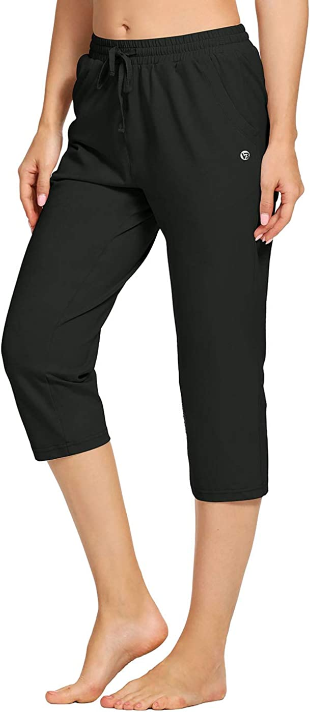 VEOBIKE Womens Active Joggers Capri Max Our shop OFFers the best service 60% OFF Pants Lightweight Loo Cotton
