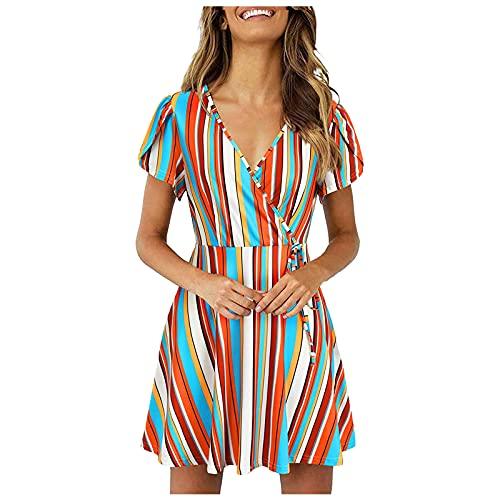 Summer Dresses for Women, Women's Summer Bohemian Floral Printed Strapless Beach Party Long Maxi Dress