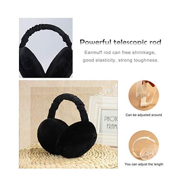 Unisex Ear Muffs for Winter Foldable Soft Ear Warmers Adjustable Wrap Faux Fur Earmuffs