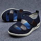 CYN Sandalias Mujer Hombre Zapatillas, Sandalias de Verano Zapatos hinchados para pies más Fertilizantes y Zapatos de Madre Ancha Lightweight Ajustable Magic Postage-Azul Marino_40EU