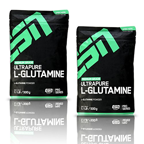 ESN Ultrapure L-Glutamine Powder - 2er Pack (2x 500 g)