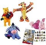 Comansi Lote 4 Figuras Bullyland Winnie The Pooh - Winnie The Pooh - Tigger - Igor - Piglet + Regalo