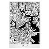 artboxONE Poster 60x40 cm Städte Boston map minimal - Bild