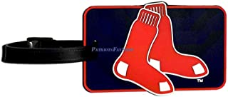 Sox Logo Luggage Tag, Navy, Red, One Size