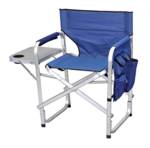 Stylish Camping SL1204BLUE Full Back Folding Director's Chair (SL1204-BLUE)