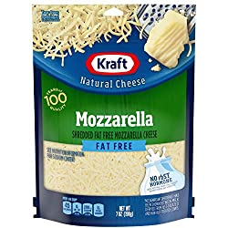 Kraft Shredded Fat Free Mozzarella Cheese, 7 oz Bag
