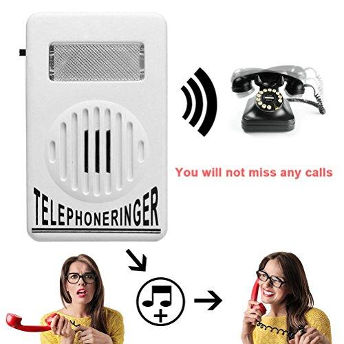 Telephone Phone Amplifier,Bagvhandbagro Socket Loud Telephone Ring Speaker,12V Ringtone Amplifier for Landline Telephone