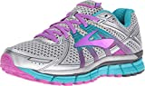 Brooks Womens Adrenaline GTS 17 Silver/Purple Cactus Flower/Bluebird 7.5 D US