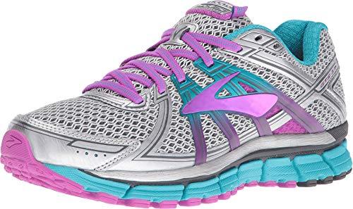 Brooks Women's Adrenaline Gts 17 Running Shoes, Silver (Silver/purple Cactus Flower/bluebird) - 4.5 UK