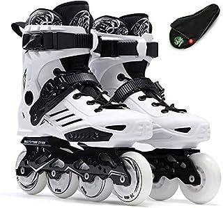 GUU 男性と女性のローラースケート用ボーイズ・ガールズアウトドアインドアブラック/ホワイト、サイズのインラインローラースケート大人プロフェッショナルインラインスケートシューズ:EU 38 / US 6 / UK 5 / JPの24センチメート...