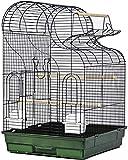 NOCEVCX Metal Grande Jaula del Loro, al Aire Libre Monk Piel del Tigre Jaula de cría, pequeñas y Medianas pájaro del Juguete Estante, (Color: Conjunto c) (Color : Set a)