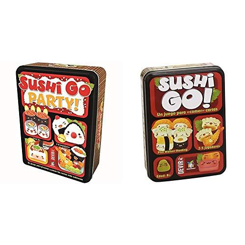 Devir - Sushi Go Party: edición en Castellano, Juego de Mesa (BGSGPARTY) + - Sushi Go Juego de Mesa, Multicolor, Miscelanea (BGSUSHI)