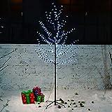 Hengda Arbre Cerisier Lumineux 160 LED Éclairage Bleu 1.8m Artificiel Lumineux de Noël à...