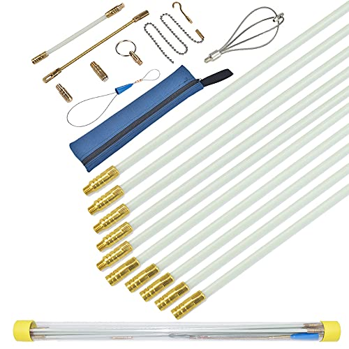 Varillas de fibra de vidrio para cables de pescado, kit de cinta...