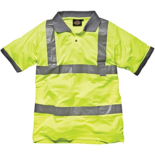 Dickies SA22075 YL M Polo haute visibilité Taille M Jaune