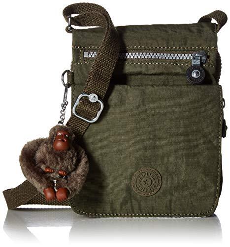 Kipling Women's El Dorado Crossbody Bag, Essential Travel Accessory, Jaded Green, One Size
