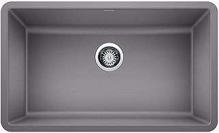 BLANCO 442536 PRECIS SILGRANIT Undermount Kitchen Sink, Metallic Gray