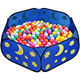 Eggsnow Spacious Kids Ball Pit,Portable Toddlers Play Pit for Preschooler Indoor and Outdoor Playing - Balls Not Included