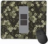 ARMYCAMO Pack di tappetini per mouse a 2 gradi di ufficiale dell'esercito capo dell'esercito con base in gomma antiscivolo Tappetino per mouse per computer, laptop, ufficio