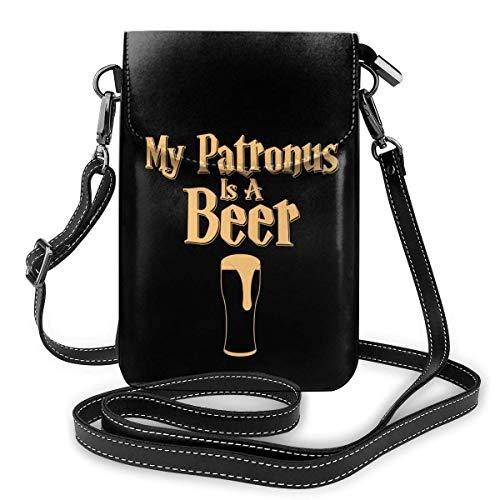 Ahdyr Mein Patronus ist eine Bier Crossbody Handy Geldbörse Mini Umhängetasche