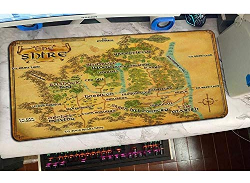 Gaming Mouse pad Lord of The Rings Mouse Pad Gamer Big Mouse Mat Gaming Mousepad Pad Pc Desk Padmouse Mats E(400Mmx900Mm)