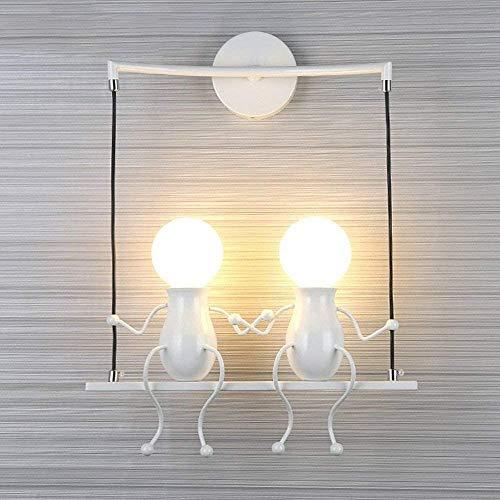 Aaedrag Moderna Simple de la Sala de Estar Dormitorio de Noche lámpara de Pared Creativa de Dibujos Animados Villain lámpara de Pared de la Personalidad Pared Linterna Pasillo del Pasillo de Escalera