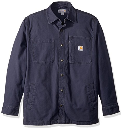 Carhartt Men's Rugged Flex Rigby Shirt Jac, deep Blue, Small