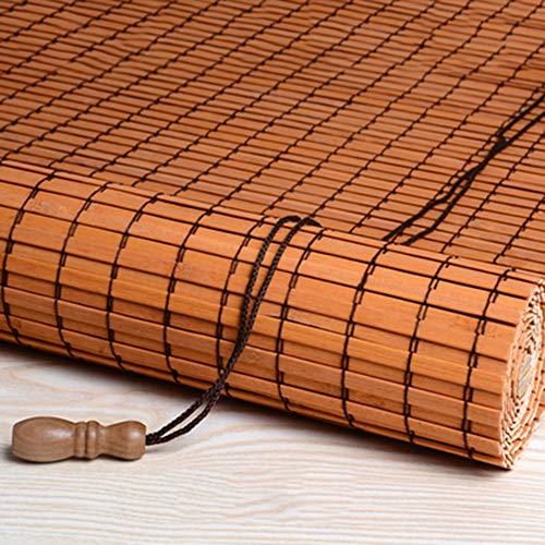 HJRD Persiana De bambú Persianas Enrollables Exteriores Impermeables, Porche/Pérgola/Balcón/Patio Trasero/Persianas para Sombrillas, 60cm / 80cm / 90cm / 100cm / 70cm, 90X175CM,Yellow(90 * 135)