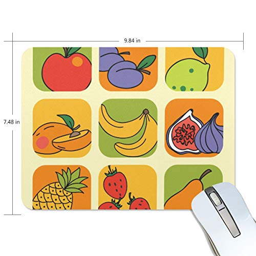 playroom Game Mouse pad Design Cartoon Fruit Grid Extended Ergonomic for Computers Mouse mat Custom-Made