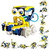 Sillbird STEM Learning Solar Robot Kit Toys for Kids- 11 in 1 Educational Science Building Toys Set- DIY Robot Assembly Gift for Boys and Girls Age 8-10+ Years Old