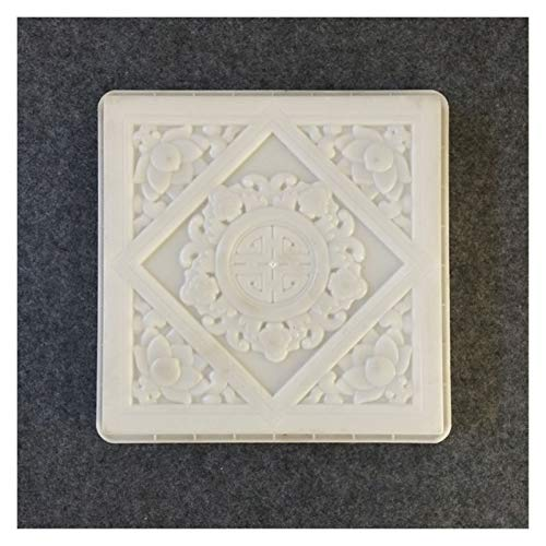 Moldes Para Cemento Plaza de las Flores 40cm 3D Patio Césped Lotus...