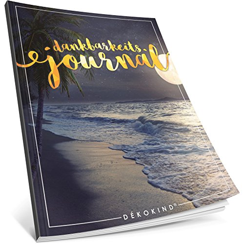 Dékokind® Dankbarkeits-Journal: Ca. A4-Format • Für 365 Tage, Vintage Softcover • Ein Tagebuch für mehr Bewusstsein, Achtsamkeit & Glück im Leben • ArtNr. 29 Vollmond • Ideal als Geschenk