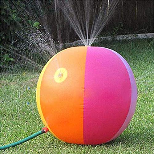 azurely Wassersprühball für Kinder, 65 cm aufblasbarer Sprinkler Beach Ball im Freien Aufblasbares Wassersprühspielzeug für den Außenbereich, Garten, Rasen, Hof