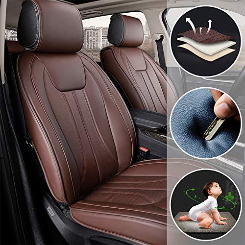 Muchkey Fundas Asiento Coche de Piel para Mercedes Benz CL CLA CLK CLS GL GLA Todas Las Estaciones 5