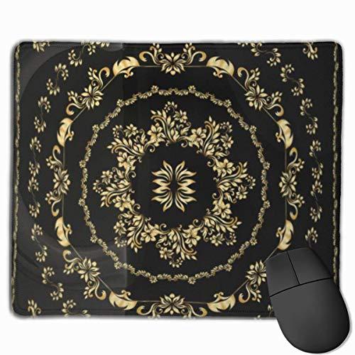 Muiskussen, bureaumuis, muiskussens, muismat rand goud bandana zijde sjaal hoofdband retro arbaesque aziatische