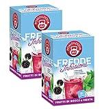 Pompadour 1913 Cold Infusions Wild Berries & Mint Infusión Bolsas en agua fría - 2 x 18 Bolsitas de té (90 gramos)