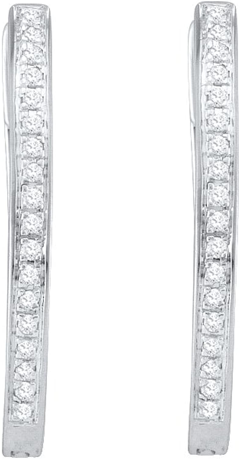 1 10 Total Carat Weight DIAMOND MICRO PAVE HOOPS