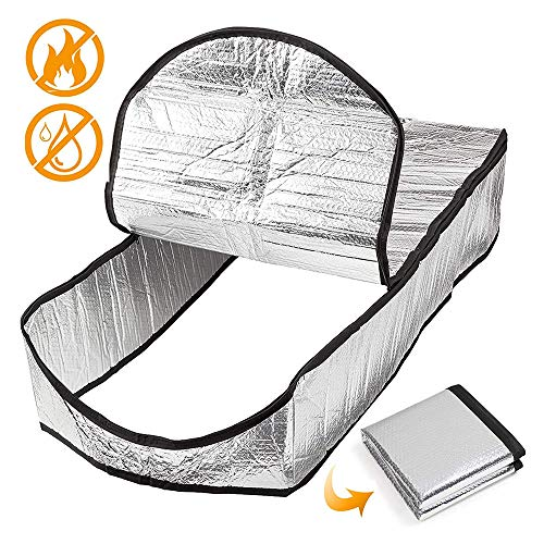 Dachgeschoss Treppen Cover, 38 * 25 * 25 cm Pure Aluminum + Bubbles Beidseitige Wasserdicht Feuerbeständige Wärmeisolierung Folienleiter Zelt Insulator