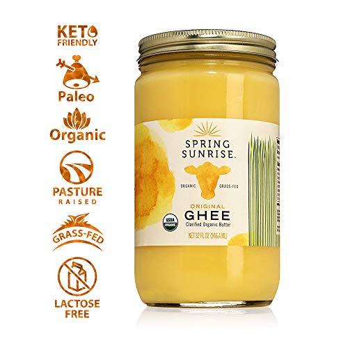 Ghee Organic Grass Fed - Ghee Oil Butter - Organic Ghee - Ghee Butter - Grass Fed Ghee - Organic Butter - Grass Fed Butter - Ghee Butter Organic Grass Fed - Keto Butter - SPRING SUNRISE 32oz