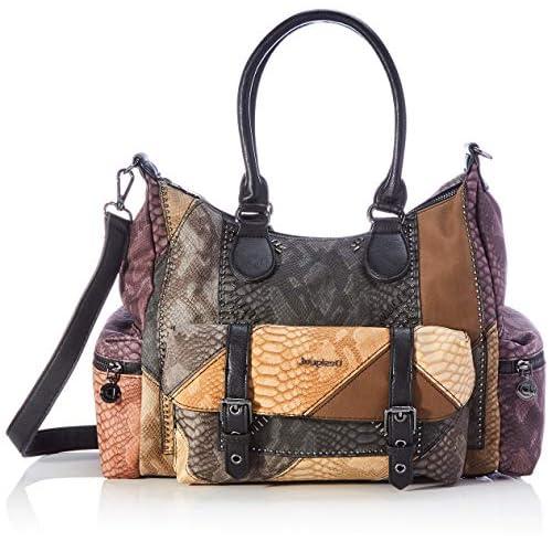 Desigual Women's Accessories PU Shoulder Bag, Brown, U