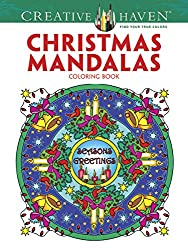 christmas mandalas Mandala Coloring Books for Relaxation stress relief and Mindfulness