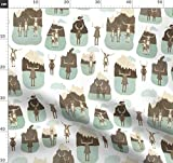 Berge, Esel, Schneebedeckt, Kuh, Süße Tiere, Wolke Stoffe