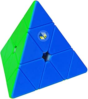YUXIN Pyramid Speed Cube Stickerless Triangle Magic Cube Puzzle Toy Colorful