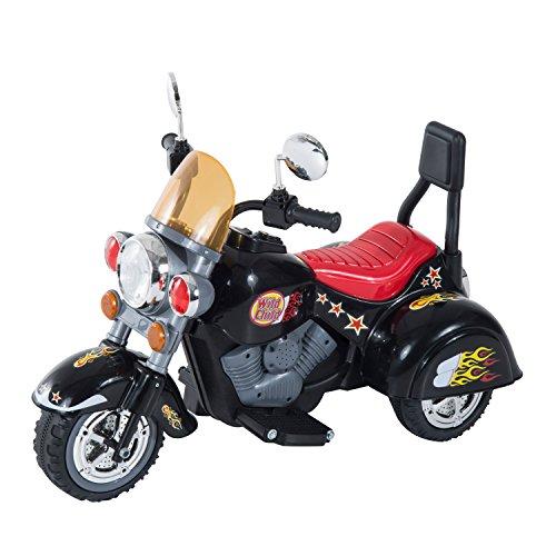 HOMCOM Moto Electrica Infantil Bateria Recargable Niño 3 Años Cargador 3 Ruedas 2.5km/h 🔥