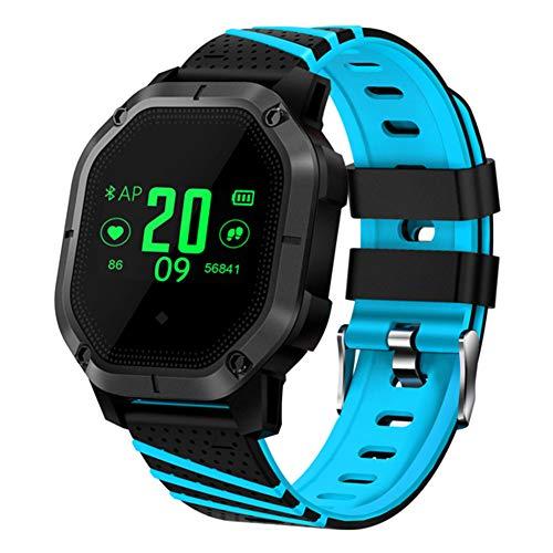 AIFB Wasserdichtes Smart-Armband, Herz-Monitor, Farb-Bildschirm, Schrittzähler, Stoppuhr, Wecker, Fitness-Tracker, Benachrichtigung, Push für Android iOS Handy, blau, Einheitsgröße