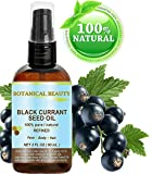 BLACK CURRANT SEED OIL. 100% Pure / Natural / Undiluted / Refined Cold Pressed Carrier oil. 2 Fl.oz. - 60ml. For Skin, Hair, Lip and Nail Care. 'One of the richest in gamma-linolenic acid, Omega 3, 6 and 9 Essential Fatty Acids'. by Botanical Beauty