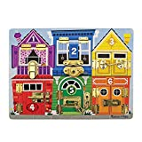 Melissa & Doug Wooden Latches Board (Developmental Toy, Sturdy Wooden Construction, Helps Develop Fine Motor Skills, Great Gift for Girls and Boys - Best for 3, 4, 5 Year Olds and Up)