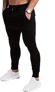 [Manatsulife] メンズ トレーニングパンツ ジム ジョガーパンツ フィットネス スリム スウェットパンツ 無地 K-02